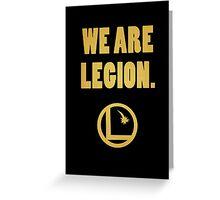 Legion of Superheroes, We Are Legion Greeting Card