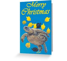 turtle and tangs merry christmas  Greeting Card