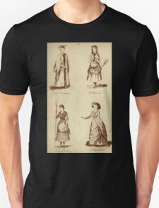 Fancy dresses described or What to wear at fancy balls by Ardern Holt 134 Girl Graduate Sleaner Grace Darling Sainoboro Unisex T-Shirt