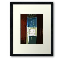 Batman comes out of the closet  Framed Print