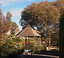 The grounds of the beautiful Glen Erin Winery at Lancefield Vic Australia by Margaret Morgan (Watkins)