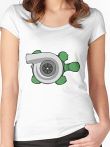 Turbo Turtle Women's Fitted Scoop T-Shirt