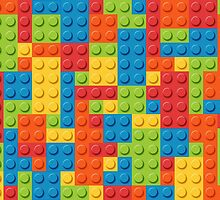 Colourful Lego Bricks  by Winkham