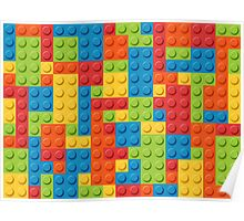 Colourful Lego Bricks  Poster