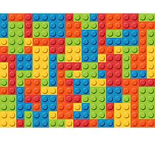 Colourful Lego Bricks  Photographic Print