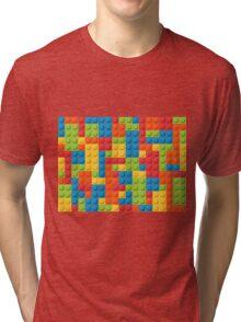 Colourful Lego Bricks  Tri-blend T-Shirt