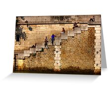 Lunchtime by the Seine in Paris, France Greeting Card