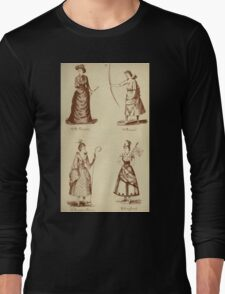 Fancy dresses described or What to wear at fancy balls by Ardern Holt 092 Di Vernon Diana Dresden China England Long Sleeve T-Shirt