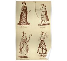 Fancy dresses described or What to wear at fancy balls by Ardern Holt 092 Di Vernon Diana Dresden China England Poster