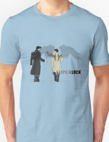 Sherlock and Castiel - SuperLock Unisex T-Shirt
