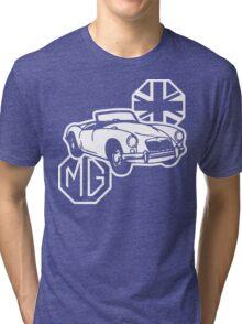 MG MGA Classic British Sports Car Tri-blend T-Shirt