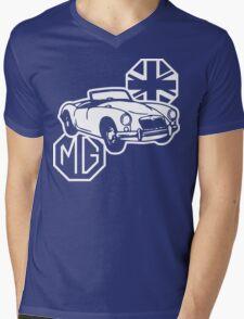 MG MGA Classic British Sports Car Mens V-Neck T-Shirt