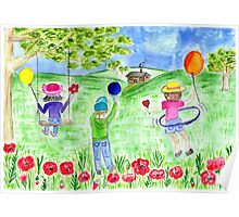 playing in the meadow Poster