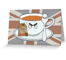 Tea fury Greeting Card