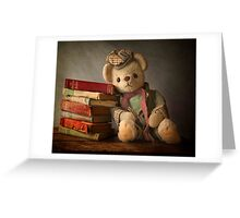 Teddy with Books Greeting Card