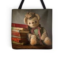 Teddy with Books Tote Bag