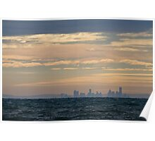 Melbourne From Portarlington - Bellarine Peninsula Poster