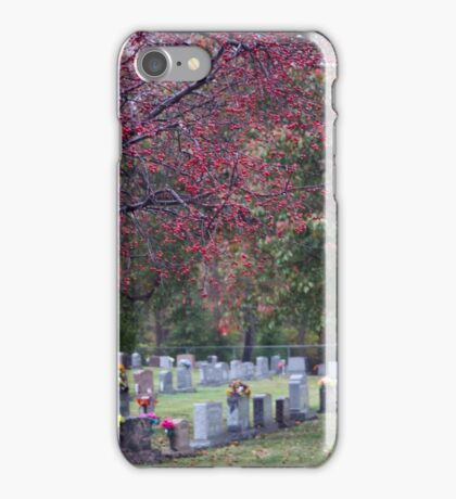 AUTUMN IN THE CEMETERY iPhone Case/Skin