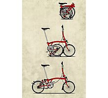 I Love My Folding Brompton Bike Photographic Print