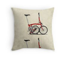 I Love My Folding Brompton Bike Throw Pillow