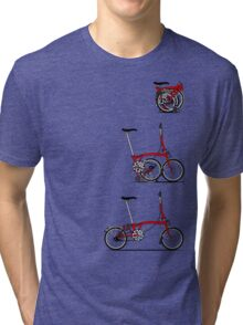 I Love My Folding Brompton Bike Tri-blend T-Shirt