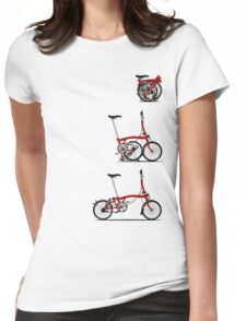 I Love My Folding Brompton Bike Womens Fitted T-Shirt