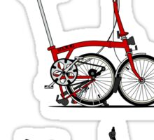 I Love My Folding Brompton Bike Sticker