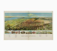 Panoramic Maps Salt Lake City Utah 1891 Kids Tee