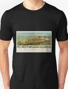 Panoramic Maps Salt Lake City Utah 1891 Unisex T-Shirt