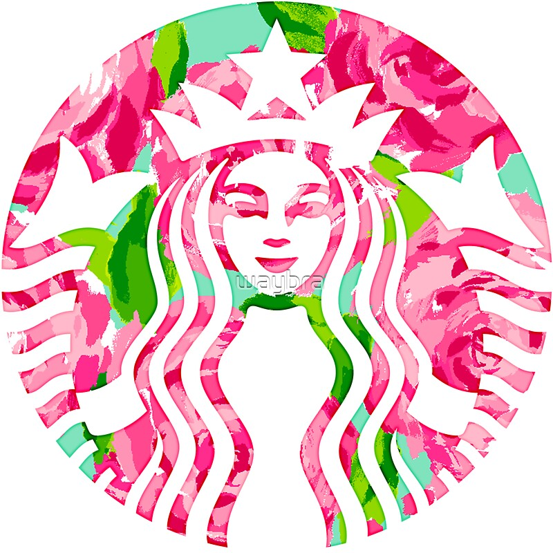 Floral Starbucks Lilly Pulitzer Sticker On The Hunt
