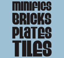 """MINIFIGS BRICKS PLATES TILES"" by Customize My Minifig by ChilleeW"