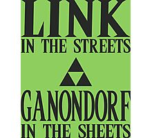Link in the Streets, Ganondorf in the Sheets Photographic Print