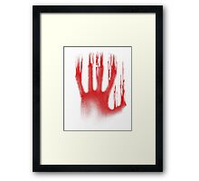 The Red Hand Framed Print