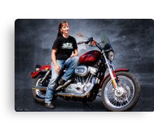 Me and my bike Canvas Print