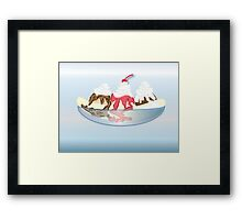 Banana Split From the Malt Shop Framed Print