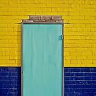 Sky blue door; Old factory rejuvenated by mypic
