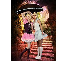 LITTLE LAMBS ~ SHELTER IN SPRING RAIN Photographic Print