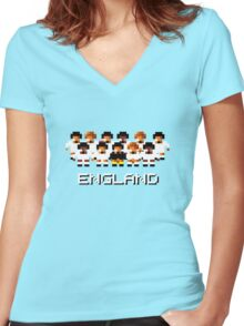 England - A Sensible Soccer Tribute Women's Fitted V-Neck T-Shirt