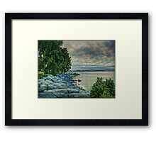 Sunrise Blues Framed Print