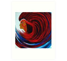 THE WAVE OF NATIVE AMERICAN INDIAN WISDOM Art Print