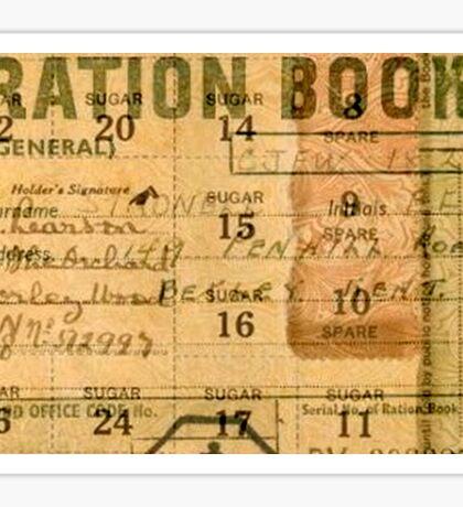 Ration Booklet Collage - World War II Sticker