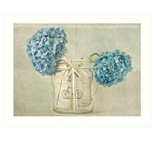 Vintage Blue Hydrangea Art Print