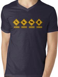 Danger Ahead Mens V-Neck T-Shirt