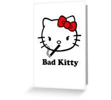 Really Bad Kitty Greeting Card