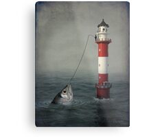 The Big Catch Metal Print