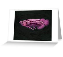 Purple Arowana Greeting Card