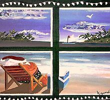 "Santa is.............. ""Island Dreamin"" by WhiteDove Studio kj gordon"