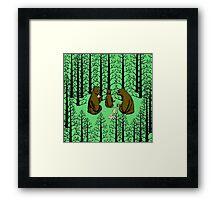 Bears Picnic Framed Print