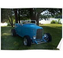 1932 Ford Roadster Hot Rod Poster