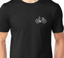 bicycle - white Unisex T-Shirt